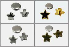 Ziernieten Stern mini 6/9mm 10/50 Stück Nieten mit Kappe Sternen, B90