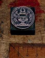 MEDAILLE Weltausstellung Paris Galvano Druckstock Drucken Exposition universelle