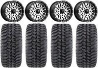 "MSA Machined Brute 14"" UTV Wheels 32"" Regulator Tires Kawasaki Mule Pro FXT"