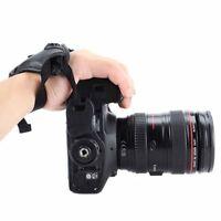 Hot PU Leather DSLR Camera Hand Strap Wrist Grip Camera  For Nikon Canon Black