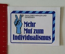 Aufkleber/Sticker: Gauloises - Mehr Mut zum Individualismus (20021728)