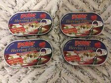 4 X Polar Herring Fillets In Hot Tomato Sauce Lot- Germany
