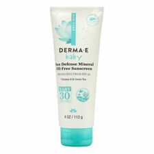 Derma E Sun Care Sun Defense Mineral Oil-Free Sunscreen Baby SPF 30 4.0 oz New