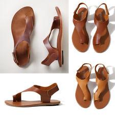 Women's Sandals Clip Toe Flat Shoes Summer Roman Open Toe Holiday Summer Beach