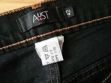 Damen Jeans Hose AUST Gr 40 42 W30 L34 schwarz Denim Stretch