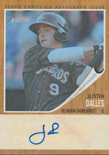 Justin Dalles 2011 Topps Heritage autograph auto card RA-JD /99