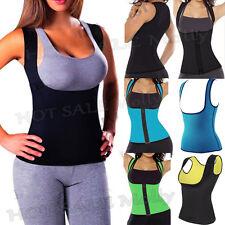 Women Slimming Vest Sweat Body Shaper Shirt Sauna Tank Top Neoprene Vest Black @
