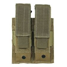 Voodoo Tactical Double Pistol Magazine Pouch w/ Adjustable Straps MOLLE Coyote