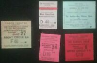 5 ICONIC SMALL THE BEATLES TICKET STUBS , LIVERPOOL ICONIC  ROCK'N ROLL POP