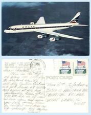 Delta DC-8 DC8 FanJet 1974 Advertising Postcard Airplane Jetourist