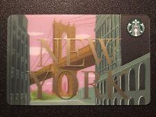 2019 Starbucks NEW YORK NYC Brooklyn Bridge Dumbo gift card * READY TO SHIP