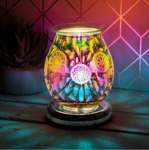 DESIRE AROMA ELECTRIC TOUCH ROUND LAMP WAX MELT OIL BURNER DREAM CATCHER DESIGN
