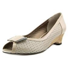 Zapatos de tacón de mujer planos de piel