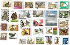 ZAMBIA - Selection of Stamps on Paper from Kiloware