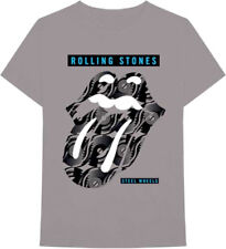 The Rolling Stones-Steel Wheels Logo Tongue-X-Large Charcoal Gray  T-shirt
