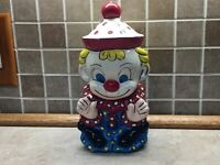 "Vintage 1980 Clown Ceramic Figurine 10"" Tall Hand Painted"