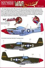 Kits World Decals 1/48 P-51 MUSTANG Fighter Mighty Mite & My Achin' Back