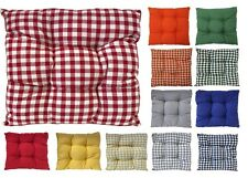 New Seat Pad Dining Room Garden Kitchen Chair Cushions Tie On,Plain or Gingham