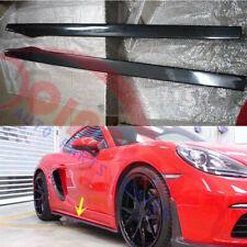Left+Right Car Side Skirt Carbon Fiber For Porsche Cayman 718 2017-2018