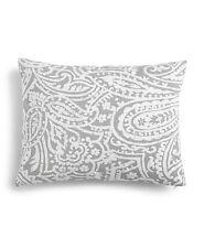 "Charter Club Damask Designs Paisley 14"" x 18"" Decorative Pillow Dove Grey I157"