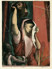 BENTON SPRUANCE, 'VANITIES II: JUDITH', signed color lithograph, 1950.
