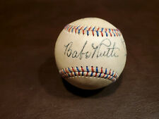 Babe Ruth / Lou Gehrig Red and Blue Stitched Autographed Baseball Reprint