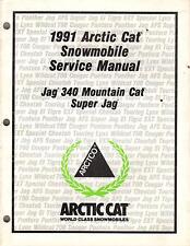 1991 ARCTIC CAT SNOWMOBILE JAG 340, SUPER JAG  P/N 2254-643 SERVICE MANUAL (369)