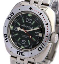Vostok Amphibian Classic Military Russian Diver Watch Black 2416/ 710640