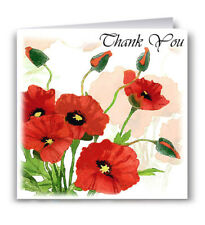 Poppies Thank You Card -  Flowers