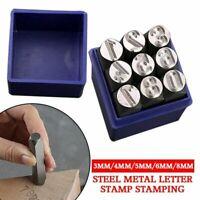 3/4/5/6/8MM Steel Metal Letter Stamp Stamping Kit Set For Metal Wood Leather