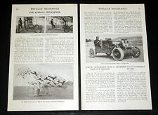 1908 OLD MAGAZINE ARTICLE, WILBUR KIMBALL HELLICOPTER, FLYING MACHINE, 24 PROPS!