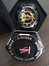 Casio G-Shock GA110GB-1A Analog-Digital Gloss Black Resin Band & Black Gold Dial