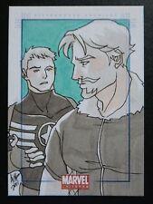 RH-Rittenhouse-Marvel Universe_Sketch Card_Irma Ahmed-Captain America-Fandral