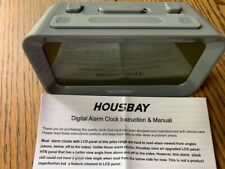 Housbay Alarm Clocks Digital Bedrooms - Handy Night Light, Large Numbers Display