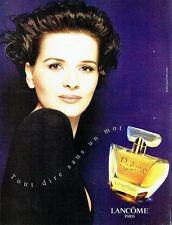 Publicité Advertising 087  1998  parfum Poeme par Lancome & Juliette Binoche