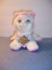 "HASBRO PET SURPRISE - Kitty Cat Plush 8755 5"" WHITE/PK - WORKS MEOWS Scarf - VGC"