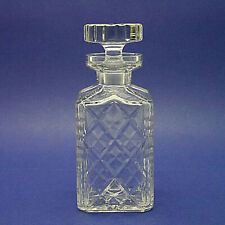 """Crystal Glass Square Decanter - 22cm/8.7"""" High"""