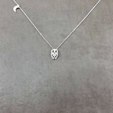 Owl [SILVER] Plated Necklace Dainty Charm Gift Box Nocturnal Animal Farm Barn