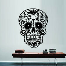 Wall Decal Sticker Vinyl Decor Sugar Skull Graphics Emo Goth Gothic Metal M712