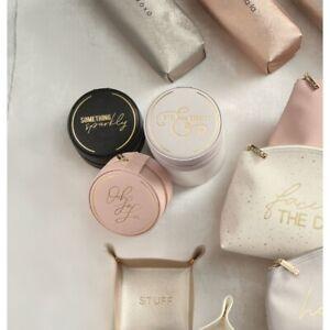 "Mud Pie E0 Women's Faux Leather Travel Cosmetics 7""x10""x4"" Makeup Bag 80210012"