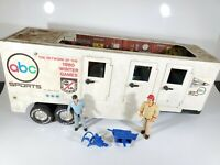 Vintage 1980's NYLINT ABC SPORTS BROADCAST WINTER GAMES TRAILER ONLY W/ FIGURES
