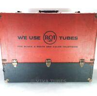 Large, Red & Black, RCA, Vintage Radio TV Vacuum Tube Valve Caddy Carrying Case