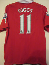 Manchester United Giggs 2010-2011 Home Football Shirt Size Medium Patches /35291