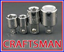 CRAFTSMAN HAND TOOLS 4pc 1/4 3/8 1/2 ratchet wrench socket drive ADAPTER set !