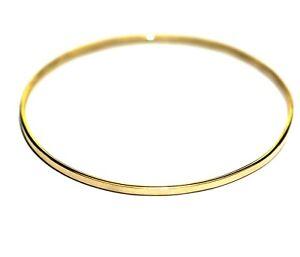 "9k yellow gold womens bangle bracelet 6g vintage estate 7"""