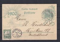 GERMANY 1901, Colonies, Postcard from Grootfontein to Muskau (Germany), signed