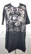 ASOS TALL womens size 4 black leopard graphic dolman sleeve cotton t-shirt dress