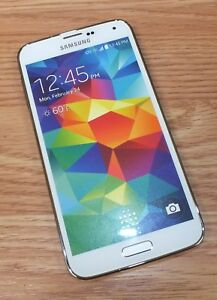 Samsung Galaxy S5 White Smartphone Style Fake Screen Dummy Display Phone *READ*