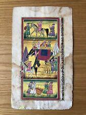 Original Indian Miniature Painting Royal Procession Rajasthani Handmade Folk Art