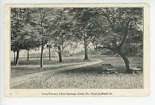 """Cozy Corner"" Lititz Springs PA Nice Park Benches Antique PC Express Print 1910s"